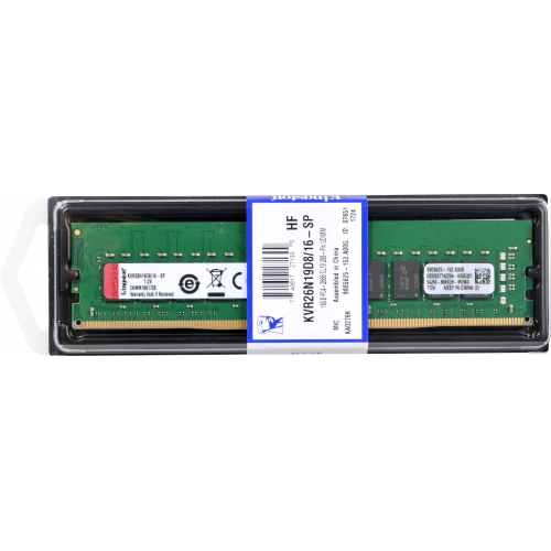 KINGSTON KVR26N19D8/16 16Gb 2666 DDR4 Desktop RAM
