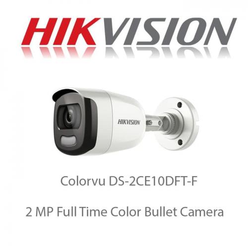 HIKVISION DS-2CE10DFT-F 2Mpix 20Mt Gece Görüşü, 3,6mm Lens, Full Time Color, Color Vu Dış Mekan Kamera