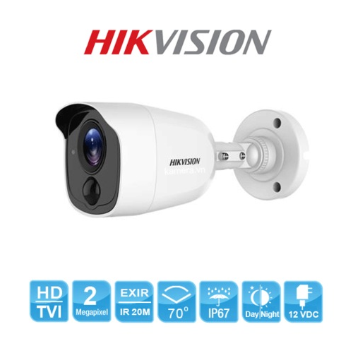 HIKVISION DS-2CE11D0T-PIRL 2Mpix 20Mt Gece Görüşü, 3,6mm Lens, Ultra Low-Light, PIR, Dış Mekan Kamera