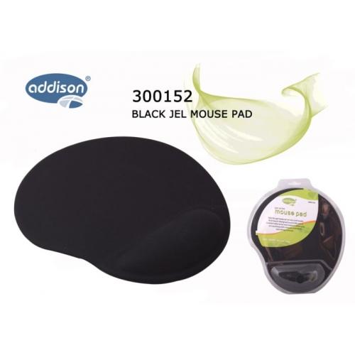 ADDISON 300152 Bileklikli MOUSE PAD (Siyah)