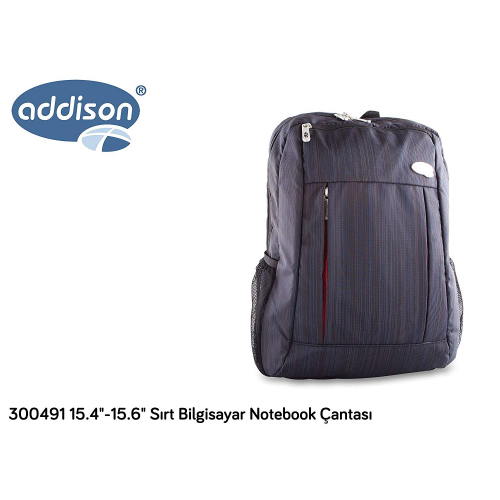 "ADDISON 300491 15.6"" Notebook Sırt Çantası (Gri)"