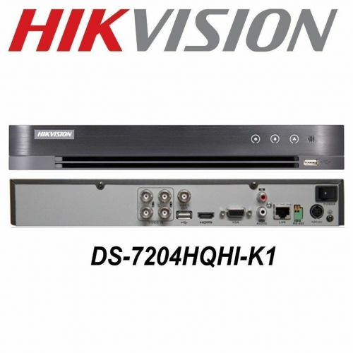 HIKVISION DS-7204HQHI-K1 4Mpix H265+ 4Kanal Video, 1 HDD, 4Mpix Lite, 5in1 DVR