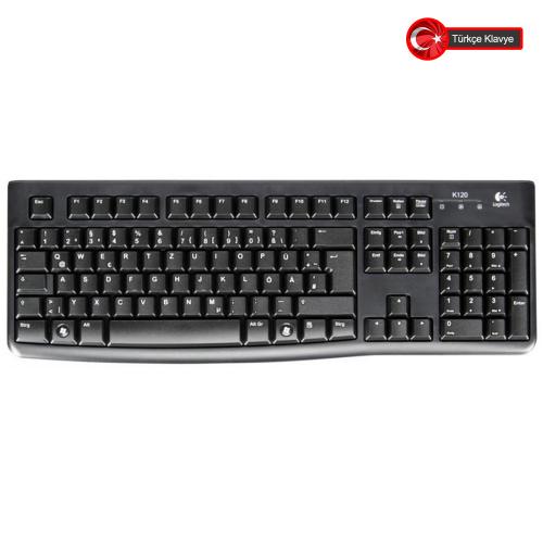 LOGITECH K120 USB Q Klavye (920-002505)