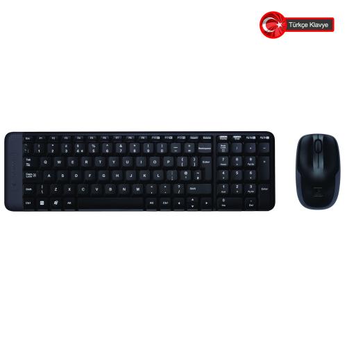 Logitech MK220 (920-003163) Kablosuz Türkçe Q Klavye/Mouse Set