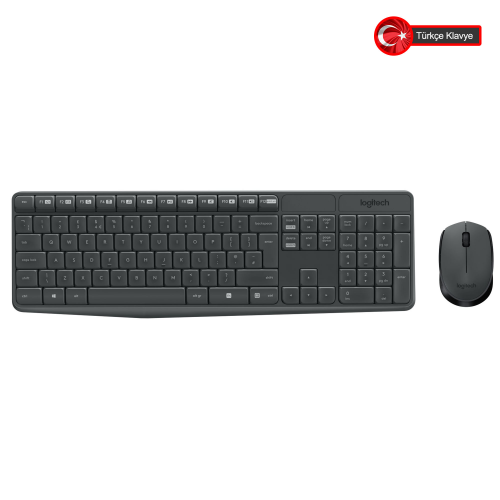 LOGITECH MK235 Klavye+ Mouse Kablosuz (920-007925)