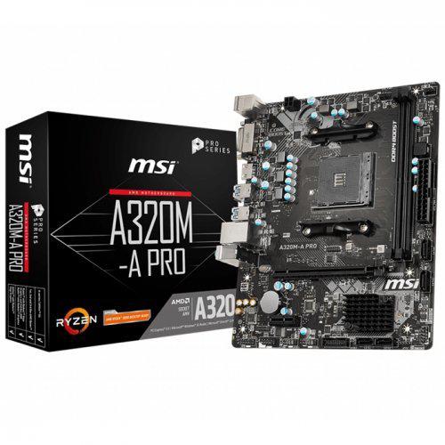 MSI A320M-A PRO DDR4 DVI HDMI USB3,2 AM4