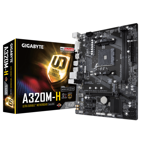 GIGABYTE A320M-H DDR4 M.2 HDMI DVI AM4