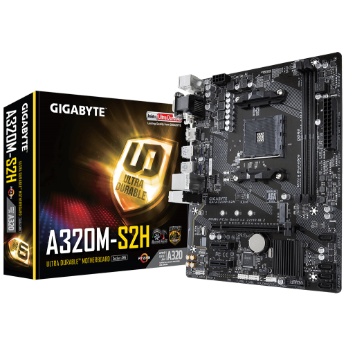 GIGABYTE A320M-S2H S/L/V DDR4 HDMI DVI PCI AM4