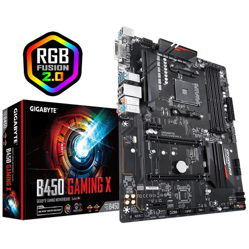 GIGABYTE B450 GAMING X 4xDDR4 DVI HDMI RGB AM4