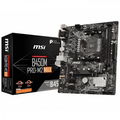 MSI B450M PRO-M2 MAX DDR4 M.2 D-SUB DVI HDMI USB3,2 AM4