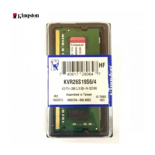 KINGSTON KVR26S19S6/4 4Gb 2666Mhz DDR4 Sodimm Notebook RAM, 1,2V