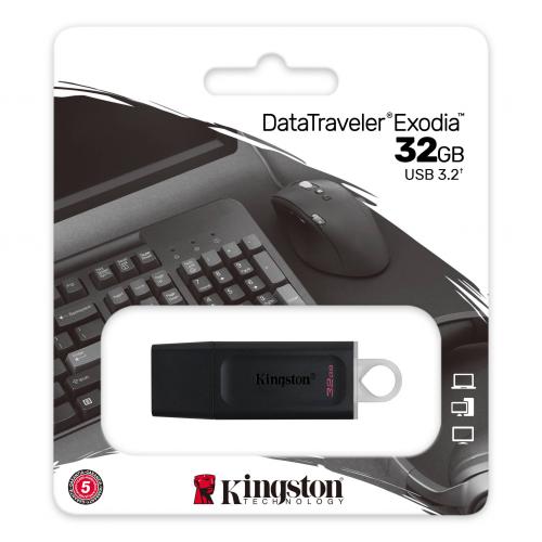 KINGSTON DTX/32GB USB 3.2 Data Traveler Exodia Gen 1 Flash Disk (Siyah - Beyaz)