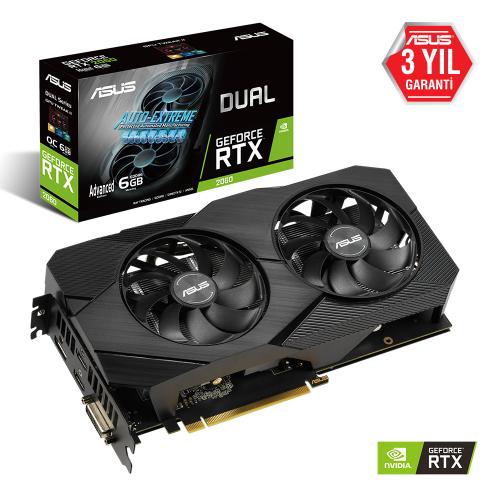 ASUS DUAL RTX2060-A6G EVO 6Gb DDR6 DIRECTX 12 HDMI DP DVI