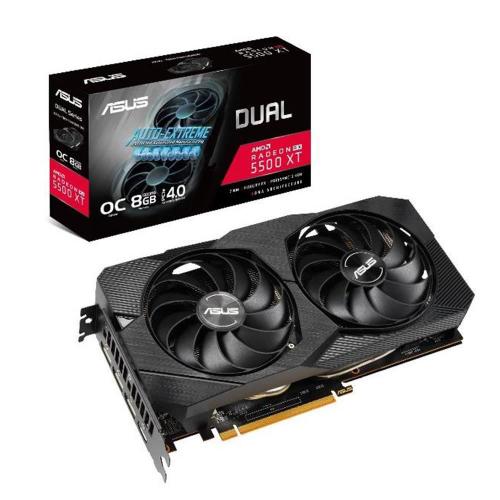 ASUS DUAL RX5500XT-O8G EVO 8Gb DDR6 OC EDITION HDMI DP DIRECTX 12