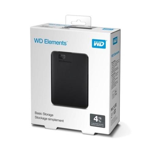 """WD Elements 4TB 2,5"""" USB 3,0 Harici HDD WDBU6Y0040BBK, Siyah"""