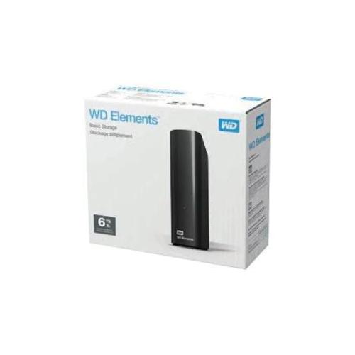 """WD Elements 6TB 3,5"""" USB3,0 (WDBWLG0060HBK), Harici HDD, Siyah"""