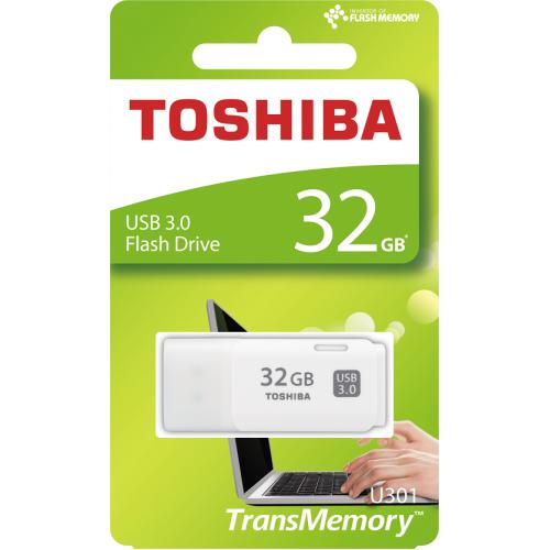 TOSHIBA THN-U301W0320E4 HayaBusa 32GB USB 3.0 Flash Disk Beyaz