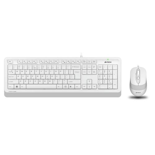 A4 TECH F1010 Beyaz FSTYLER USB Kablolu Türkçe M.Medya Klavye Mouse Set