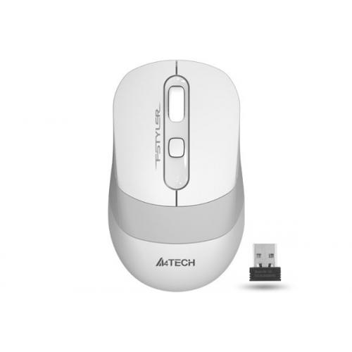 A4 TECH FG10 (White) FSTYLER 2,4Ghz Kablosuz Optik Mouse, 10-15Metre, 4 Buton, Nano Alıcı