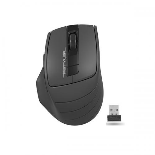 A4 TECH FG30 (Grey) FSTYLER 2,4Ghz Kablosuz Optik Mouse, 10-15Metre, 4 Buton, Nano Alıcı