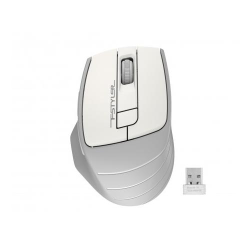 A4 TECH FG30 (White) FSTYLER 2,4Ghz Kablosuz Optik Mouse, 10-15Metre, 4 Buton, Nano Alıcı