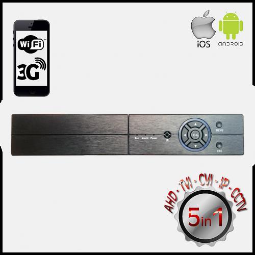 POWERGATE FLASH-B04 5Mpix H265+ 4Kanal Video, 4Kanal Ses, 1 HDD, 1944N, 3G Wifi, XMeye 5in1 DVR