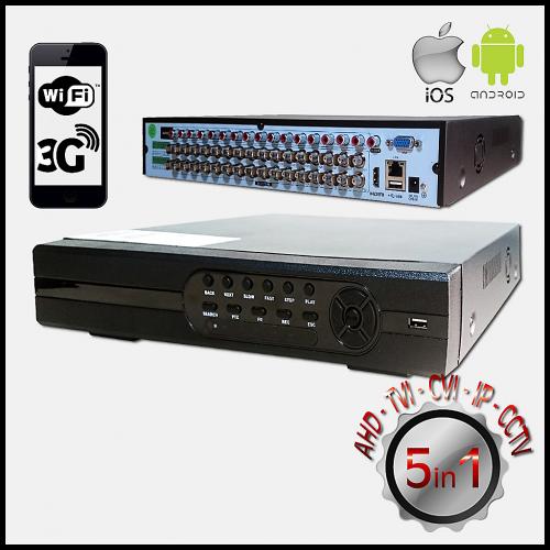 POWERGATE FLASH-B31 5Mpix H265+ 32Kanal Video, 16Kanal Ses, 2 HDD, 1944N, 3G Wifi, XMeye 5in1 DVR