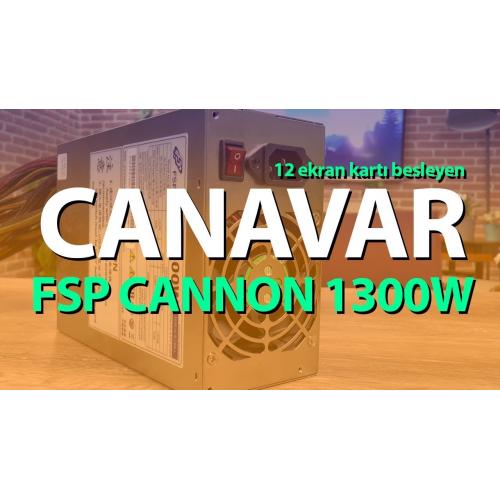FSP CANNON FSP1300-50YD 1300W 12xPCI Express BITCOIN MINING POWERSUPLY (12 ADET EKRAN KARTI BESLEYEBİLİR)
