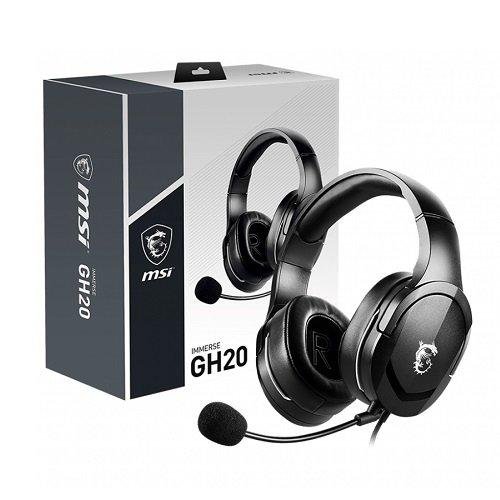 MSI GH20 Immerse Gaming Mikrofonlu Kulaklık 3,5mm Jac Siyah
