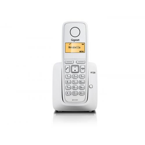 GIGASET A120 DECT TELSİZ TELEFON (BEYAZ) 10 Saat Konuşma, 170 Saat Bekleme, 20 Kişilik Rehber
