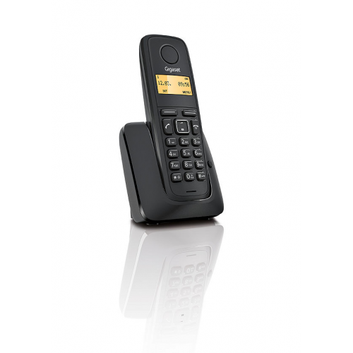 GIGASET A120 DECT TELSİZ TELEFON (SİYAH) 10 Saat Konuşma, 170 Saat Bekleme, 20 Kişilik Rehber