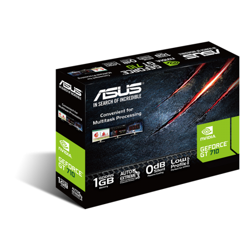 ASUS GT710-SL-1GD5-BRK 1Gb DDR5 64Bit 1xD-SUB 1xHDMI 1xDVI