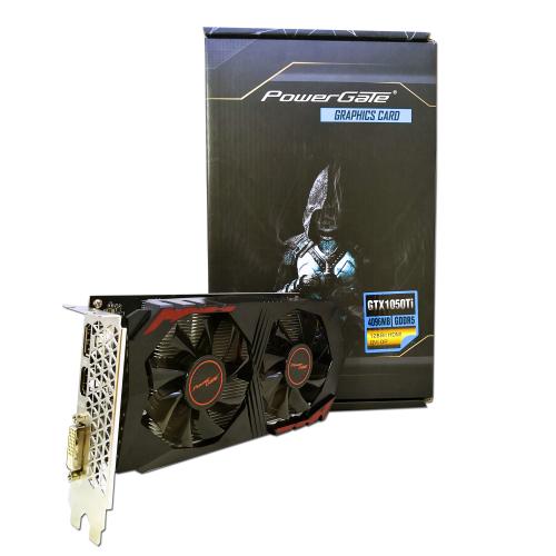 POWERGATE PG-GTX1050TI-D5-4GB GDDR5 HDMI, DVI, DP Dual Fan, Ekran Kartı