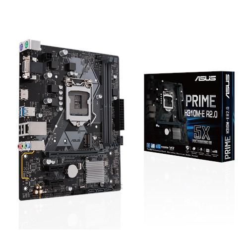 ASUS PRIME H310M-E R2,0 HDMI USB3,1 LGA1151 8-9.Nesil
