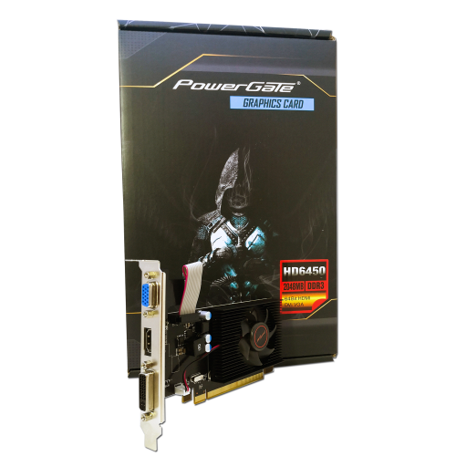 POWERGATE PG-HD6450-D3-2GB DDR3 HDMI, DVI, Analog Ekran Kartı