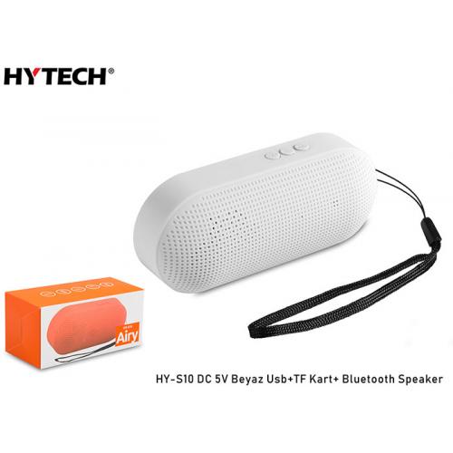 HYTECH HY-S10 Beyaz Usb+TF Kart Destekli DC 5V, Bluetooth Speaker