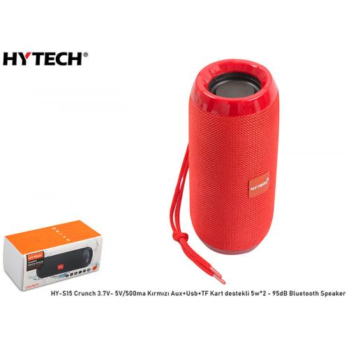 HYTECH HY-S15 Crunch Kırmızı Aux+Usb+TF Kart Destekli,3.7V-5V/500mah Bluetooth Speaker