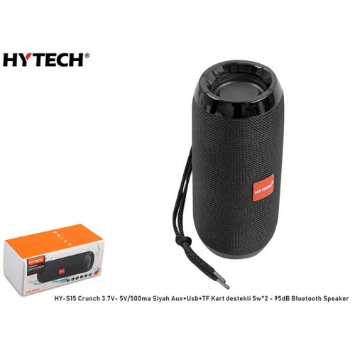 HYTECH HY-S15 Crunch Siyah Aux+Usb+TF Kart Destekli,3.7V-5V/500mah Bluetooth Speaker