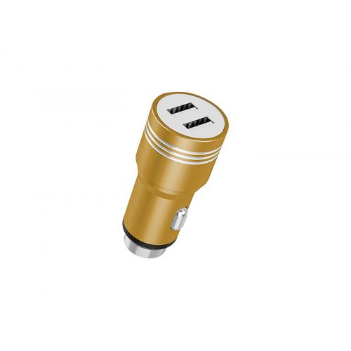 HYTECH HY-X68 3.1A 2 USB Gold Metal Araç Şarj Cihazı