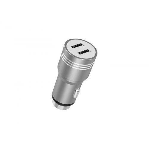 HYTECH HY-X68 3.1A 2 USB Gri Metal Araç Şarj Cihazı