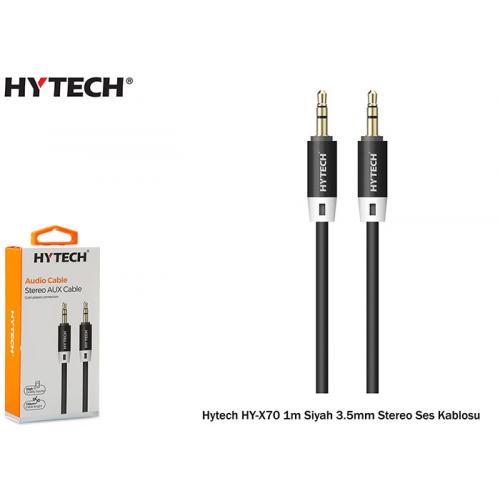 HYTECH HY-X70 1m Siyah 3.5mm Stereo Ses Kablosu