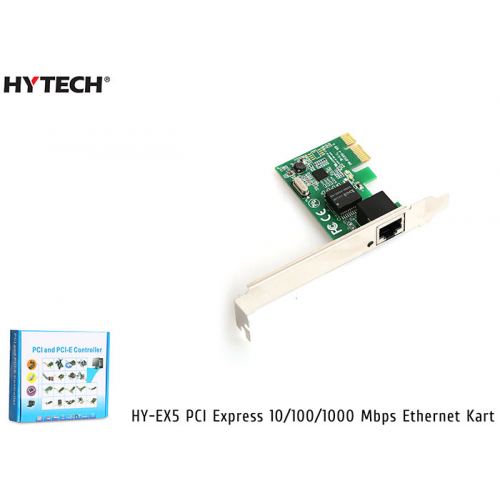 HYTECH HY-EX5 PCI Express Gigabit Ethernet Kart