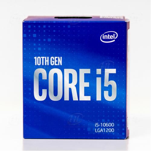 INTEL i5-10600 6 Core, 3.3Ghz, 12Mb, 65W, LGA1200, 10.Nesil, BOX, (Grafik Kart VAR, Fan VAR)