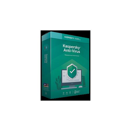 Kaspersky ANTIVIRUS 2 Kullanıcı , 1 YIL