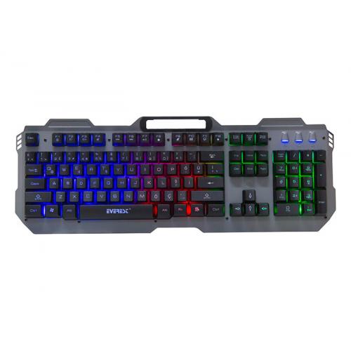EVEREST KB-197 TITANIO Gaming Aydınlatmalı, Metal Yüzey, Usb Oyuncu Klavyesi