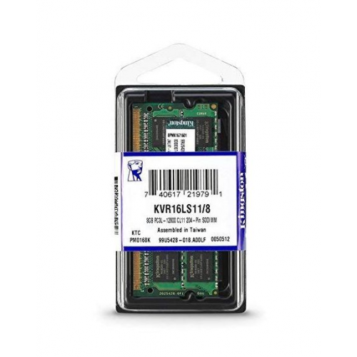 KINGSTON KVR16LS11/8 8Gb 1600Mh DDR3 Sodimm Notebook RAM, 1,35V