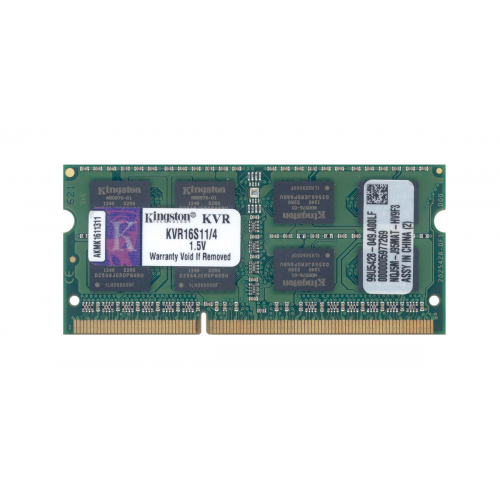 KINGSTON KVR16S11/4 4Gb 1600Mhz DDR3 Sodimm Notebook RAM, 1,50V