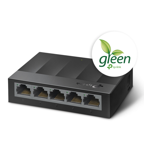 TP-LINK LS1005G 5 Port GigaBit Switch Green Tech.