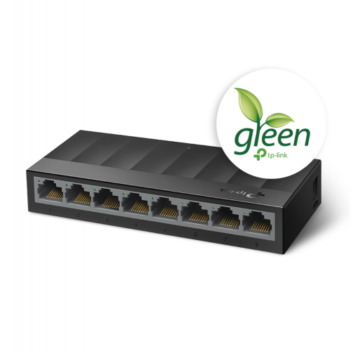 TP-LINK LS1008G 8 Port GigaBit Switch Green Tech.