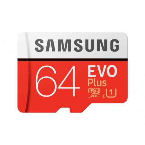 SAMSUNG MB-MC64HA/TR 64Gb EVO Plus CLASS10 100Mb/s Micro SD Kart (SD Adaptörlü)